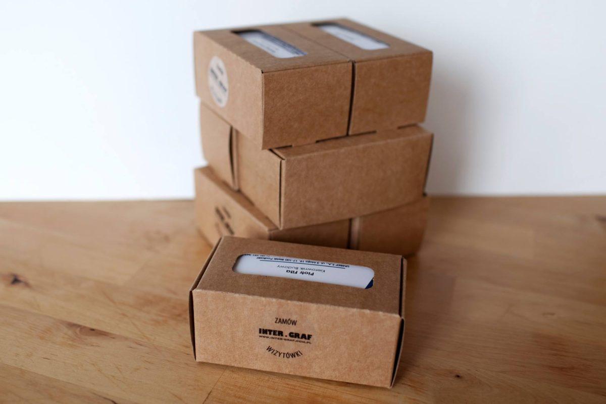 Druk i pakowanie wizytówek